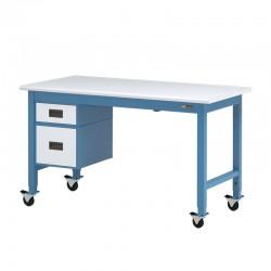 """IAC Rolling Steel Workbench w/ 6"""" & 12"""" Drawers 30-36"""" x 48-96"""""""