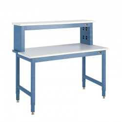 """IAC Heavy Duty Steel Workbench w/Instrument Shelf B6 30-36"""" x 48-96"""""""