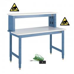 IAC ESD Electronics Workbench w/ Instrument Shelf