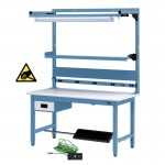 "IAC Heavy Duty Steel Workbench Bundle12 - 30-36"" x 48-72"""