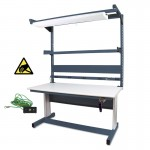 "IAC Hand Crank Height Adjustable Workbench 30""D x 60""W (930 Series)"