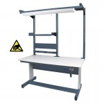 "IAC Hand Crank Height Adjustable Workbench 30""D x 60""W (930 Series with MTS-I)"