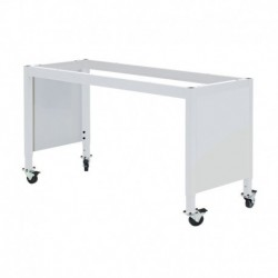 "MOBILE LAB TABLE FRAME - ADJUSTABLE 30-36"" (H) X 24-36"" (W) X 48-96"" (L) w/End Panels"