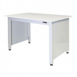 "LAB TABLE - ADJUSTABLE or FIXED 30-36"" (H) X 24-36"" (W) X 48-96"" (L) - LAM Top w/End Panels"