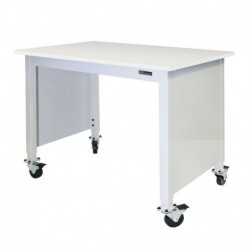 "MOBILE LAB TABLE - ADJUSTABLE 30-36"" (H) X 24-36"" (W) X 48-96"" (L) - LAM Top - w/End Panels"