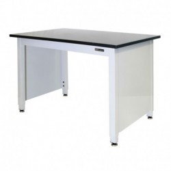 """TRESPA LAB TABLE - ADJUSTABLE or FIXED 30-36"""" (H) x 24-36"""" (W) X 48-96"""" (L) w/End Panels"""
