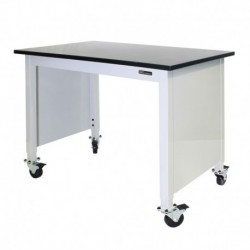 "MOBILE EPOXY LAB TABLE - ADJUSTABLE 30-36"" (H) x 24-36"" (W) X 48-96"" (L) w/End Panels"