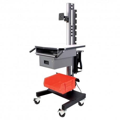 IAC S9 Mobile Shipping & Receiving Cart w/ Keyboard Tray & Drawer