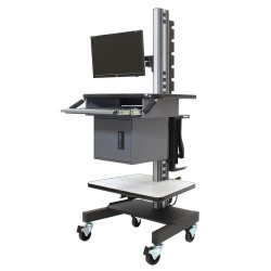 IAC S4 - Mobile/Rolling Industrial Computer Cart w/ Electrical