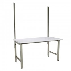"IAC Packing Shipping Table - 30-36""D x 60-72""W x 48""H, 48"" uprights,1500 lbs load capacity"