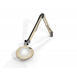 "5"" Round Green-Lite® LED Magnifiers with Table Edge Clamp"