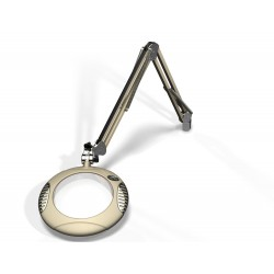"7.5"" Round Green-Lite® LED Magnifiers with Table Edge Clamp"