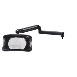 "7 x 5.25"" Rectangular Green-Lite® LED Magnifiers with Ultima™ EPS Internal Spring Arm"