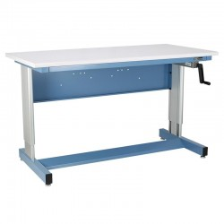 IAC Hand Crank Height Adjustable Industrial Workbench